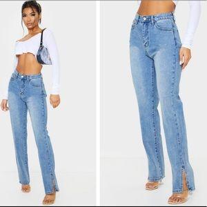 Pretty Little Thing Split Hem Jeans